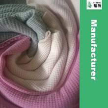 CVC Cotton Polyester Thermal Waffle Knit Fabric
