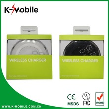 Transparent LED Flashing Light wireless charger for iphone and samsung portable wireless charger