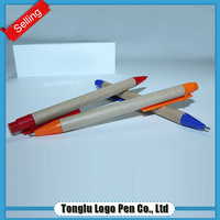 Innovation new 2015 stationery eco-friendly reclaimed material paper roll pen