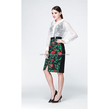 Alibaba china hot-sale midi skirts in plain color