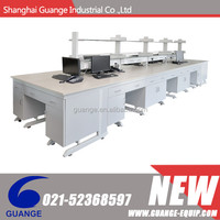 Steel wooden laboratory experiment table with reagent shelf SHGG-GM51118(ZJ883)