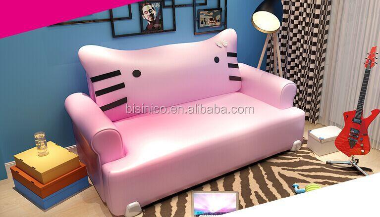 bisini hellokitty 고양이 모양 공주 침대, 현대 가죽 더블 침대, 멋진 ...