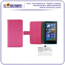High Quality Magnetic Clasp Card Wallet PU Leather Flip Case Cover for Nokia Lumia 920 Cell Phone Accessories