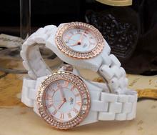 2015 Charming Elegant vogue Ceramic watch for women quartz movt lady watch, diamond watches