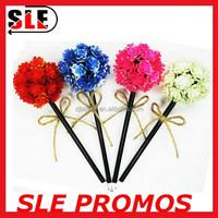 Big novelty promotion pincushion top flower ball pen