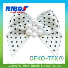 Large Inventory Polka Dots & Wavy Edge Ribbon Hair Bows