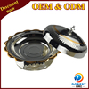 stainless steel large round serving tray with legs