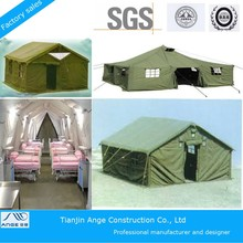 Easy install large luxury decoration camping used canvas military tent