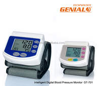 Electronic fast reading wrist watch blood pressure monitor