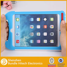 2 in 1 Cute Silicone Case For iPad Mini With Stand ,children case for ipad mini