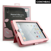 2014!stand case for ipad 2/3/4, cute lip case for ipad 2/3/4