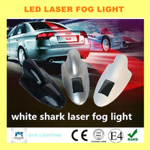 2015 new arrival white shark laser fog light LED lamp tail driving safe lighting