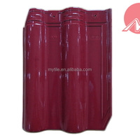 glossy maroon clay roofing tile