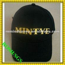 2012 fashion 100% cotton black baseball cap