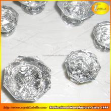 40MM Clear Glass Knobs Crystal Glass Door Knobs Diamond Crystal Drawer Cabinet Furniture Kitchen Knobs