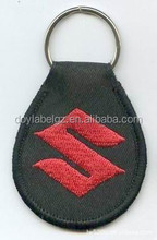 fabric embroidered key tag