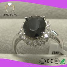 Sapphire Gemstone 925 Sterling Silver Women Wedding Rings