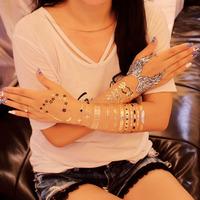 Metallic Flash Tattoos glow in the dark Temporary Gold/Silver Body Jewelry Sticker Deco Non-toxic metallic uv temporary tattoos