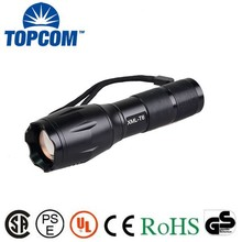 Rechargeable Extra Long Time With Adjustable Focusing Super Bright Zoom Flashlight