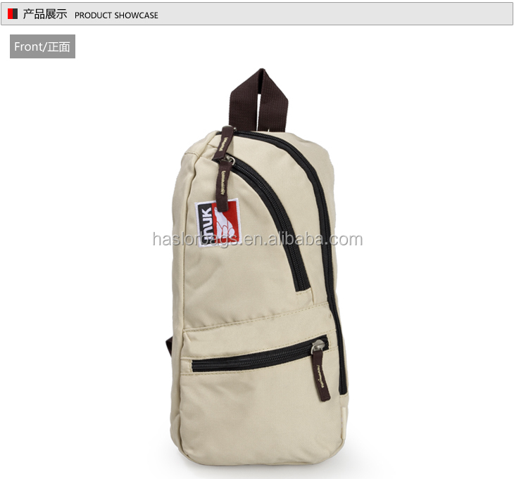 2015 Newest design custom one strap backpack for sport & leisure