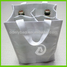 Non woven wine bag,wine bottle bag with reinforced handle for 4 bottles