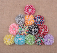 bulk price chevron hair flower !cute girl large hair flower clips ! CB-3272