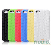 Fashion tpu soft phone case for iphone 5C tyre design mobile covers