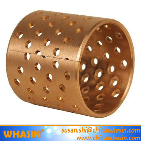 Bronze Material For Thrust Washer Flanged Cylindrical Sleeve Bushing Copper Brass Bush Wrapped Bronze Bearing.jpg