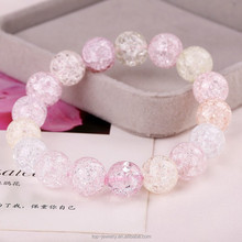2015 Fashion nature crystal bracelets ice cream bracelets crystal elastic crystal bracelet for women girl for wedding for party