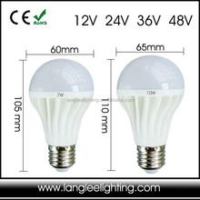 12V 24V 36V 48V AC DC LED Light Lamp Bulb E27 Base Global Bulb Marine Solar Use