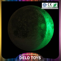 2015 hot toys emulation indoor half moon glass wall light / remote control two color waxes and wanes DE0257001
