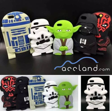 3D Star Wars Character Silicone Soft Case Cover For iPhone 5/5S/6/6 Plus,star wars case