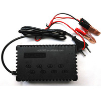 Battery Charger Alligator Clamp 12V 24V Auto Car Power Adapter 4A 6A 8A 10A 20A 24A