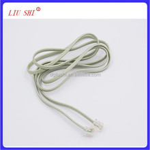 6p2c/6p4c RJ11 cable, 2core/4core phone cable, telephone flat cable