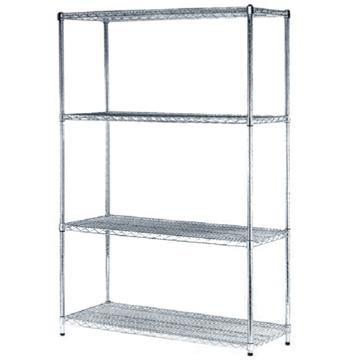 Metal chrome plated wire shelf wire mesh rack ce - Estantes de metal ...