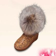 venta al por mayor nueva llegada de piel barato mujeres lindas bota de nieve