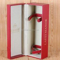 Custom luxury leather Portable Wine carrier case/Wine box