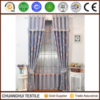 2014 New Arrrival Thermal Insulated polyester non-toxic printed luxurious blackout curtain