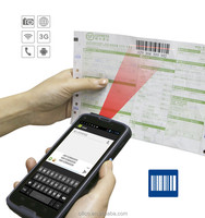 Cilico Android laser barcode scanner mobile phone with Quad-core,Dual-SIM,3g,wifi,BT,PSAM,Free SDK.
