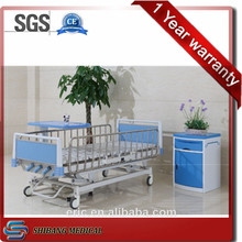Safety full siderail anti rust hospital child cot bed,5-función cama manual de hospital