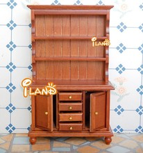 1:12 Dollhouse Furniture Wooden Three Layer Two-door Clothes Closet WL016E