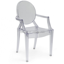 Polycarbonate Clear resin ARM VICTORIA Ghost Chair