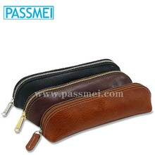 High quality customized genuine leather pen case holder