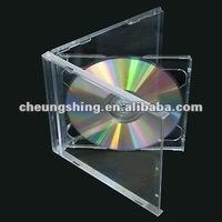 Plastic cd case 10.4mm hold 2 discs