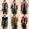 Genuine Italian Design Fox Fur Clothes 2015 Fashion Woman OEM Wholesale Retail ladies' coat