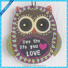 Customized novelty shape car vent clips hanging paper air freshener