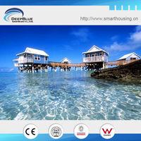 overwater prefab wooden house