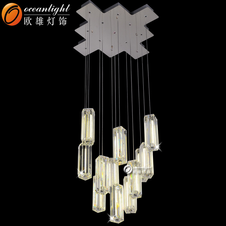 Long Crystal Tube Pendant Lamp 3014 Led Chips Pendant Lamp