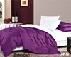 Hotel bedsheet Royal Purple & White reversible 6pc Bed in a Bag Set