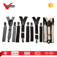 Buyless Kids Elastic Adjustable Solid Color Suspenders